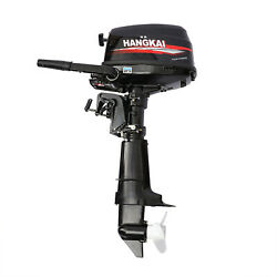 Hangkai Outboard Motor 6.5 Hp 4 Stroke Marine Boat Engine Water Cooling System