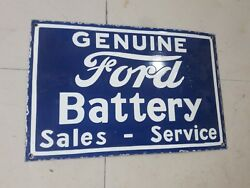 Porcelain Ford Battery Sign Size 23 X 15 Inches