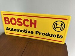 Rare Bosch Automotive Products 24x10 Single Sided Metal Sign Usa Dealer Vw 1989
