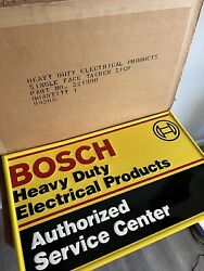 Rare Bosch Electrical Products 16x26 Embossed Metal Sign Usa Dealer Vw In Box