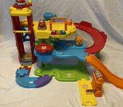 Vtech Go Go Smart Wheels Park And Learn Deluxe Garage And Tow Truck Complete