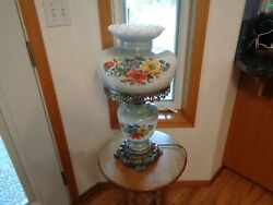 Gwtw 22 1/4 Tall Floral Parlor Electric Lamp 3 Way Switch Efandef Industries Inc