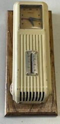 Vintage Retro Sampsel Thermostat W/clock And Thermometer Deco Style