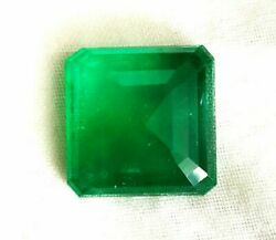 Zambia Natural Emerald Green Square Octagon 9.10 Cts Loose Certified Gemstone A1