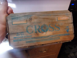 Vintage Wooden Crate Southern Cross Produce Of Chile Santiago / Grapes Fruit