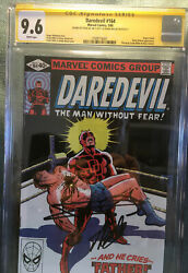 Daredevil 164 Ss Cgc 9.6 Signed By Stan Lee And Frank Miller.. Beautiful Cover.