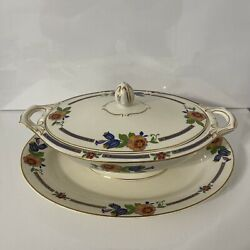 Vintage Meakin Sol Tureen With Dish
