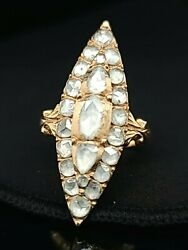 1.95ct. Antique Rose-cut Diamond Dinner Ring Victorian Circ 1900and039s