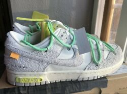Nike Dunk Low Off White Lot 14 Dj0950-106 Menand039s Size 9