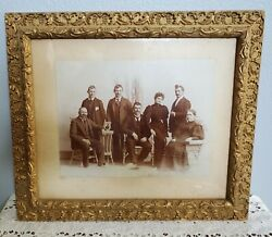 Vintage Antique Nice Ornate Gold Gesso Wood Frame W Victorian Family Photo