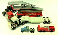 Mixed Lot Toy Tractor Trailers Police Fire Department Tonka Yatming Unbranded