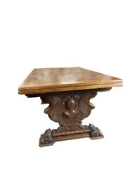 Antique French Refectory Dining Table, Pull Out Leaves, Oak, 1920's 11674