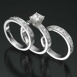 Diamond Ring Multiple Wedding Bands 3.15 Carats Si1 D 14k White Gold