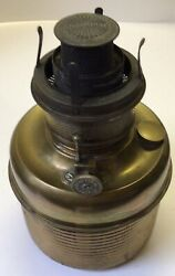 Antique Brass P And A High Dome 5andrdquo Vase Oil Lamp Font Consolidated Flame Spreader