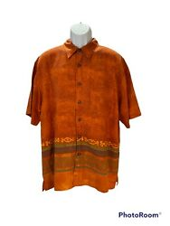 The Territory Ahead Front And Back All Over Designs Button Up Shirt Mens Size Xl