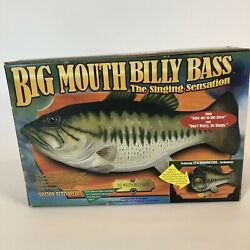 Vintage Big Mouth Billy Bass Singing Fish Motion Activated Gemmy 1998 In Box