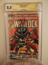Strange Tales 180 Cgc 8.0 Autographed By Jim Starlin