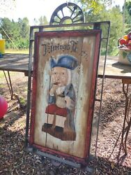 Antique German Hand Painted Tavern Sign Ehrings