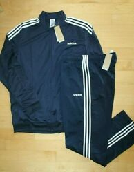 Nwt Adidas Big And Tall Mens Track Jacket And Pants Sweatsuit Navy Blue
