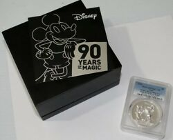 2018 Niue Mickey Mouse 2 Oz High Relief Silver Proof Coin Pcgs Pr70 Dcam 10/5000