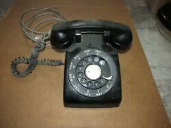 Vintage Bell Rotary Black Telephone Western Electric Used Untested As Is
