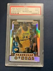 1996 Bowmanandrsquos Best Alonzo Mourning Shaquille Oandrsquoneal Honor Roll Refractor Psa 9