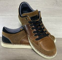 Bull Boxer Drestyn Leather Sneakers Brown Mens Size 9