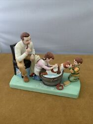 Norman Rockwell The American Family Washing Our Dog Porcelain Beagle Figurine