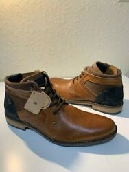 Bull Boxer Men#x27;s Boots Cap Toe Boot Brown Leather SIZE 9 NEW