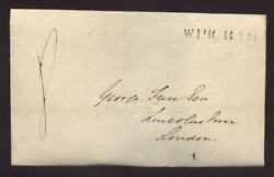 Kent Wingham 1830 Straight Line On Front Mourning Cover