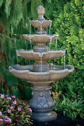 65 Classic Four Tier Fountain Outdoor Cement