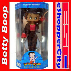Betty Boop Biker Girl 12 New W/ Doll Stand Leather Outfit