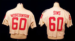 1984 Darryl Sims Wisconsin Badgers Game-worn Jersey From Hall Of Fame Bowl