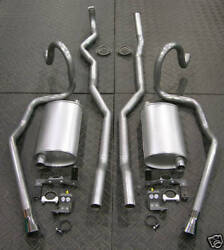 70-72 Hurst Olds 442 W-30 Factory Dual Exhaust System Cut Out Bumper Nice Sound
