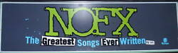 Nofx Rare Promo Billboard Huge 7and039 Ft Sign Rare One Of A Kind Lp Bad Religion