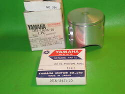 Yamaha Yz125 H 1981 Piston And Ring 2nd Over Nos Oem