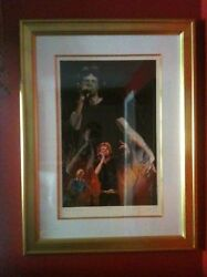 Ronnie Wood Play On Hands With Frame Signed