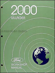 2000 Mercury Villager Original Repair Shop Manual GS LS Workshop Service Book