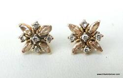 Vintage Antique Solid 20 K Gold Jewelry Stud Earring Pair Rajasthan India