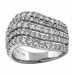 2.00ct Round Cut Prong Diamond Dome Shape Ladies Ring In 14k White Gold