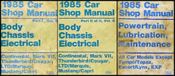 1985 Ford Repair Shop Manual Set Mustang LTD Thunderbird 85 Original Service OEM
