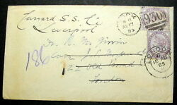 Great Britain 1885 Unclaimed Cunard Ss To Liverpool