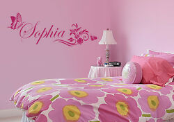 Personalized Kids Custom Butterfly Vinyl Name Wall Decal pick color size #1104 $9.25