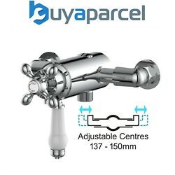 Thermostatic Traditional Exposed Shower Mixer Valve Dual Control - 137mm 150mm