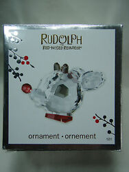 2010 Carlton Cards Rudolph The Red Nosed Reindeer Crystal Ornament