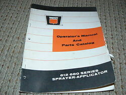 Oliver White Tractor 612 680 Sprayers Operatorand039s And Parts Book