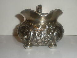 Rare Antique American Jaccard Kansas City Sterling Silver Repousse Creamer