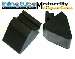 1964-72 Gto Judge Tempest Lemans Rear Axle Rubber Bumpers With / Ribs Like Nos