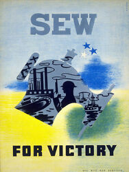 Sew For Victory Historical Decor Poster.home Wall Art.interior Design.2129