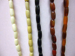Buffalo Bone / Horn Hairpipe Beads All Sizes Red Yellow White Black Antiqued